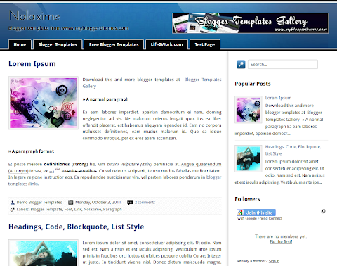 Nolaxime Blogger Theme