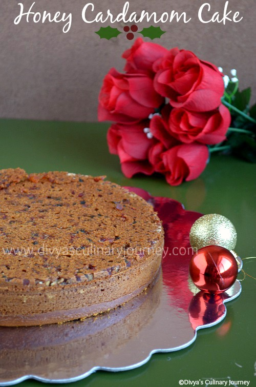 honey cake with cardamom
