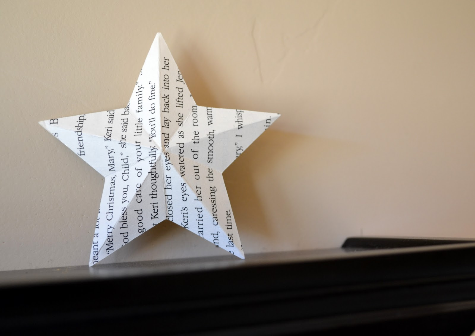 Craftaphile How To Make A 3d Paper Star - Make A Christmas Star Tree Topper