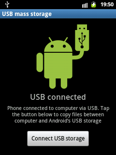 samsung galaxy pocket connect USB storage