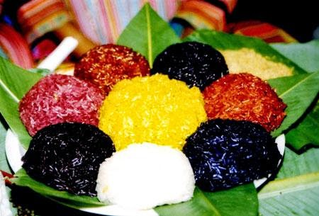 Five-colored Sticky Rice of Tay Ethnic Group