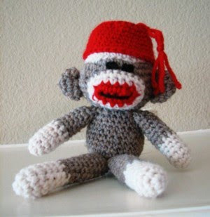 Free Crochet Pattern For Sock Monkey Mittens : FREE KNITTING PATTERN SOCK MONKEY MITTENS - VERY SIMPLE ...