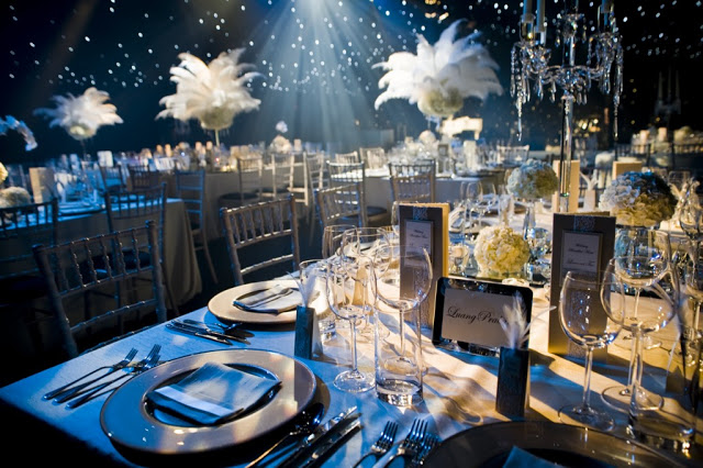 Flawlessaisle the great gatsby wedding inspiration for 1920 party decoration ideas