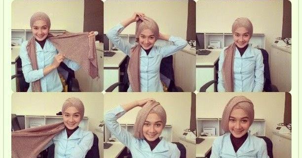 ... Modern Untuk Kerja   Tutorial Hijab Cara Memakai Jilbab Kerudung