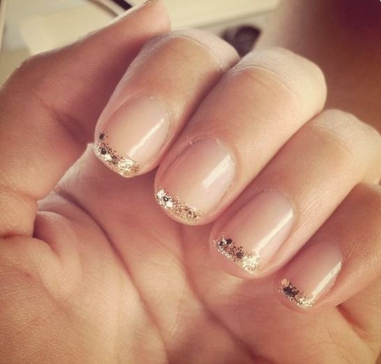Amazing Gold Glitter French Manicure 547 x 523 · 32 kB · jpeg