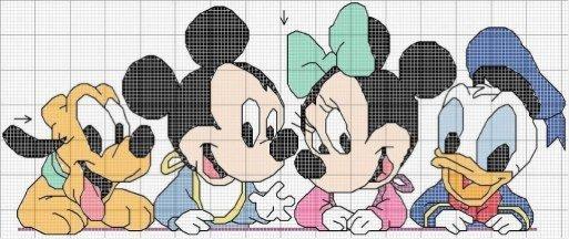 Babys Disney para punto de cruz