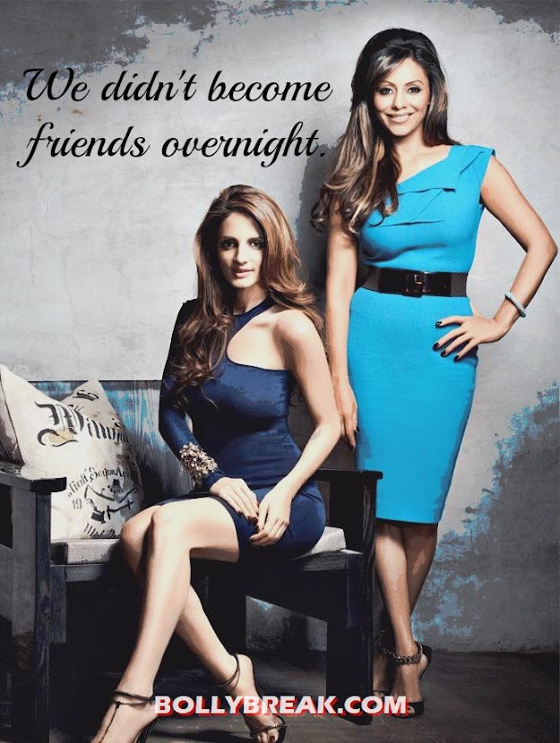 Hot Wives of Bollywood Actors - Suzanne and Gauri Khan - suzanne khan roshan &amp; gauri khan vogue india Photo