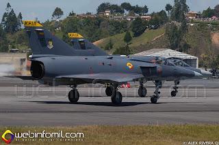 Avion de Combate IAI Kfir de la Fuerza Aérea Colombiana.