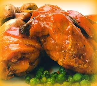Fricassé de muslos de pollo