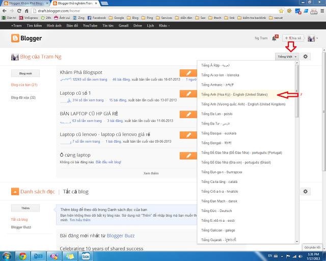 tính hợp google adsence cho blogspot
