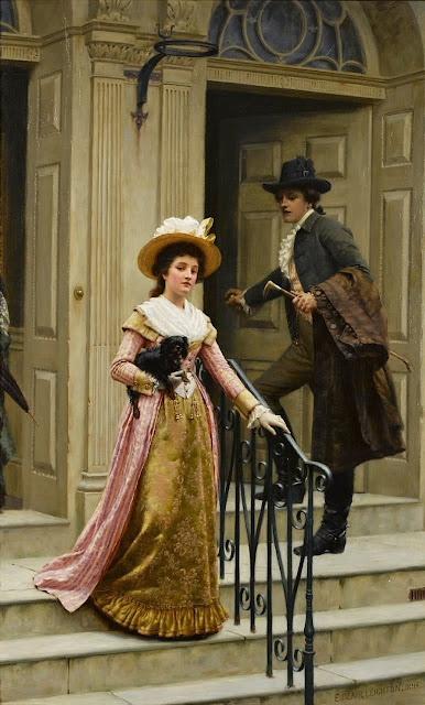 Edmund Blair Leighton,genre painting,lady