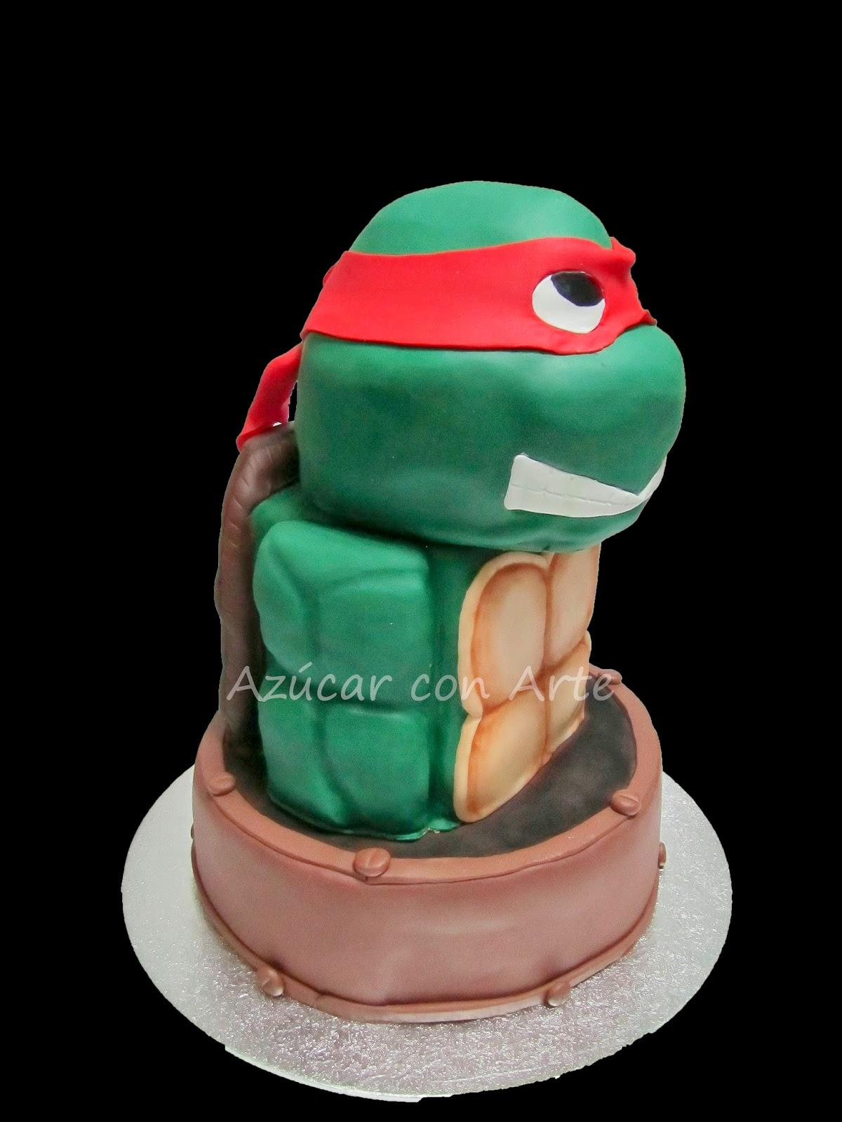 turtles cake, tarta tortuga ninja, tarta sin gluten, gluten free cake | azucar con arte