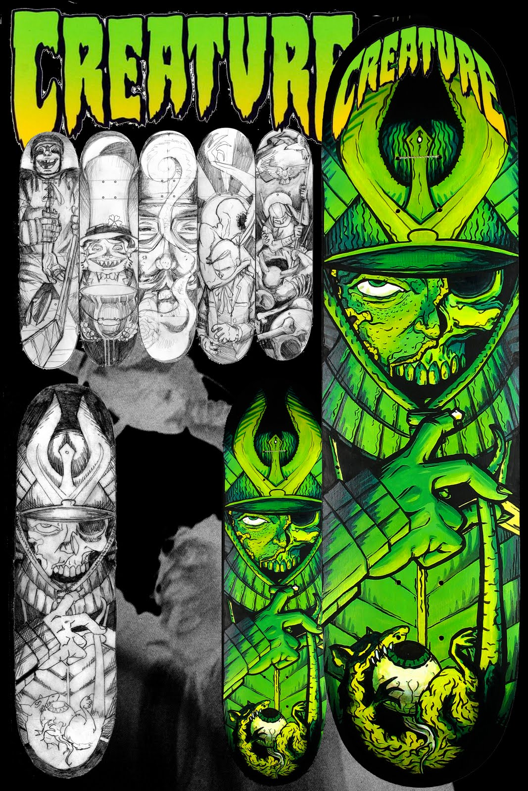 Seth Young Art and Illustration: Skateboard Concept for ...