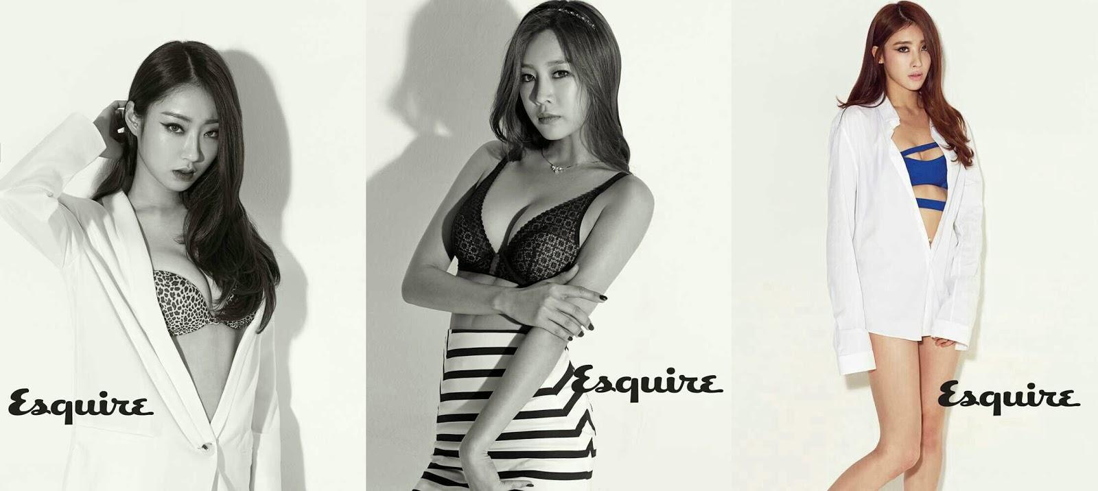 9 muses esquire kyungri sungah hyuna
