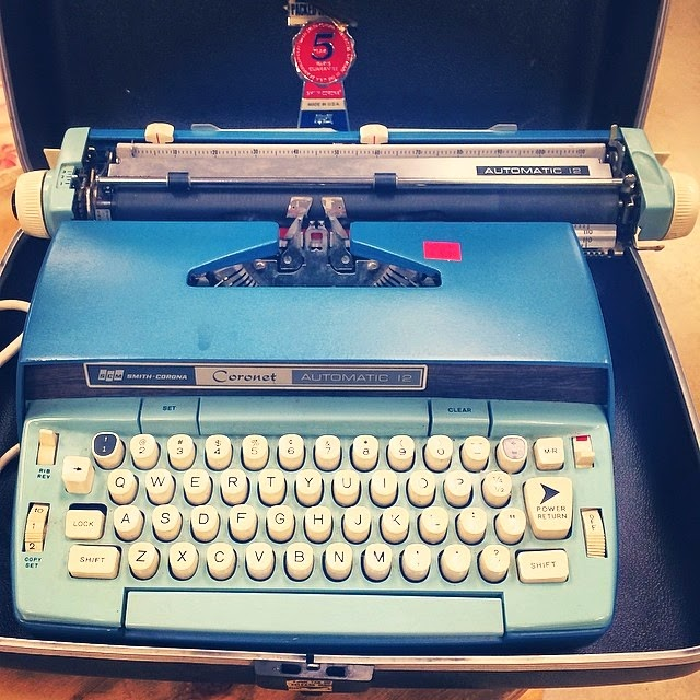#thriftscorethursday Week 11 Features | Instagram user: JJ Fuller shows off this vintage Smith Corona typewriter