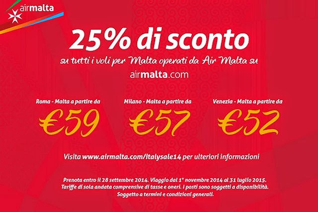 air Malta sconto voli