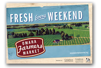 Farmers Market Postcard design for Omaha