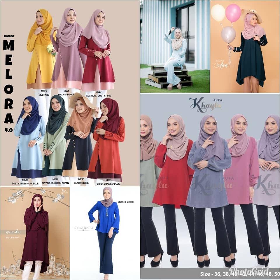 Pelbagai koleksi.blouse.muslimah sesuai dipakai seharian