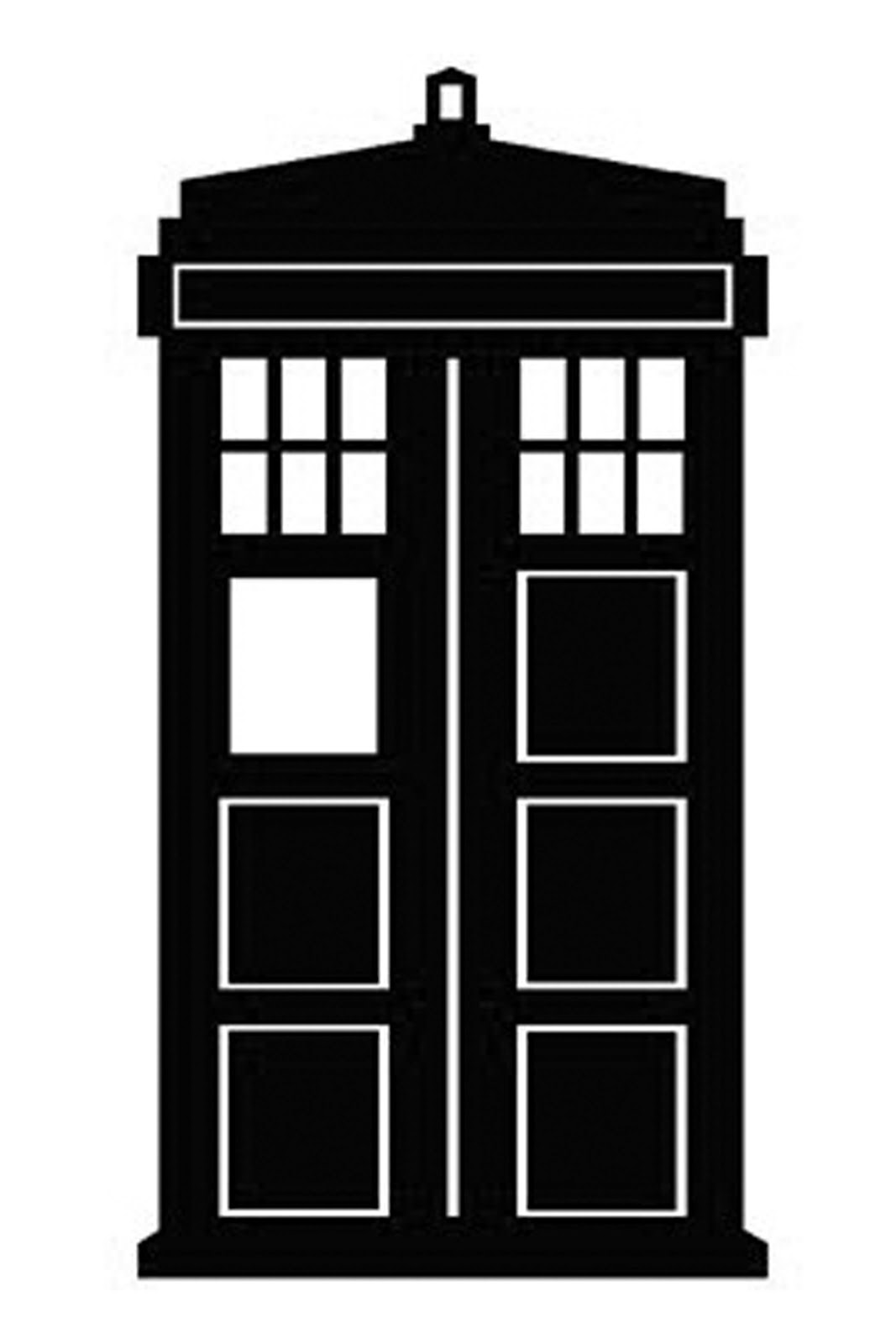 Clip Art Dr Who Clipart doodlecraft doctor who stencil silhouette outline clipart mania mania