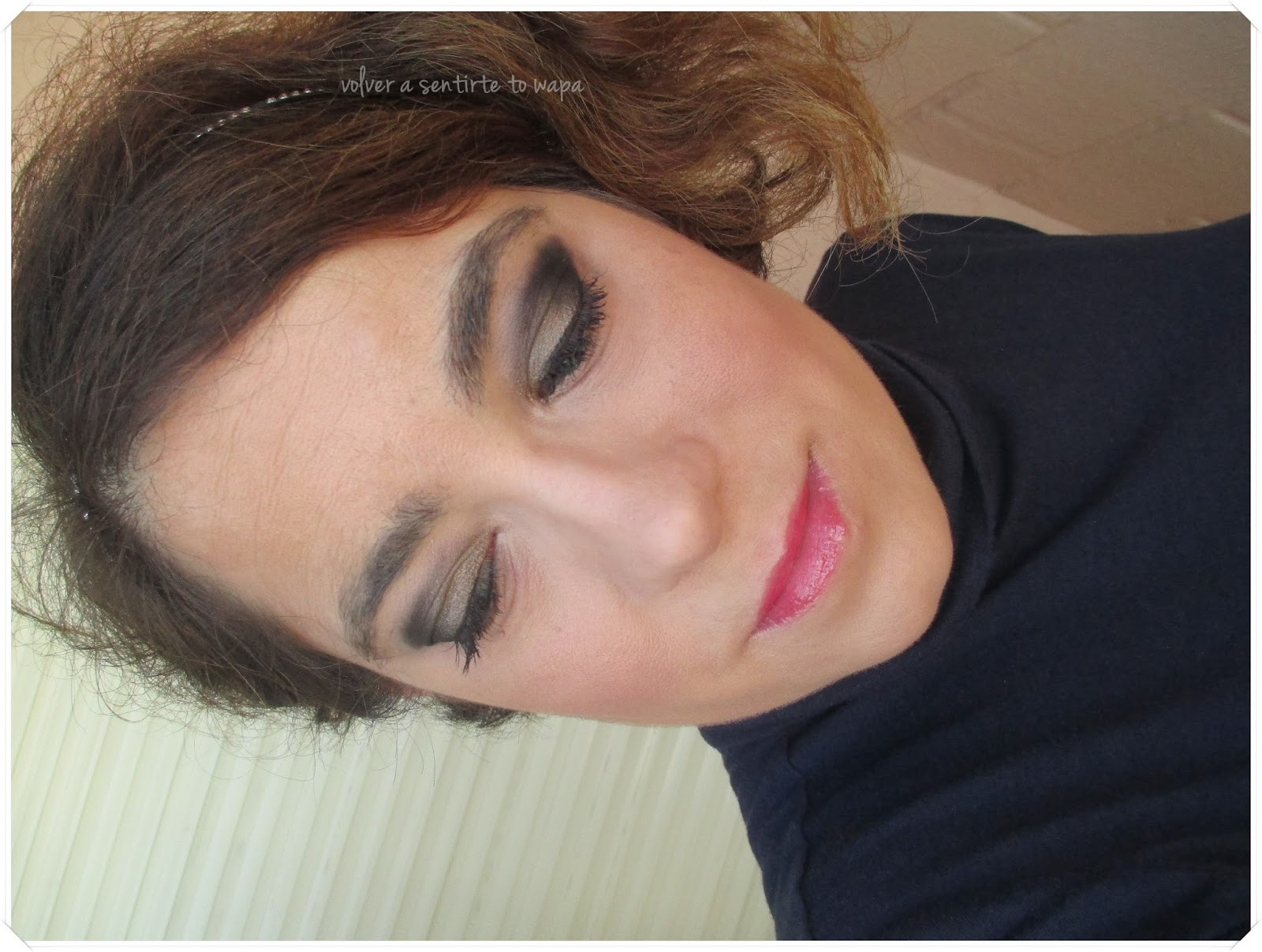 Maquillaje para Fiestas: Dorado Oliva & Negro