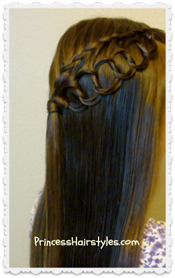Feather Braid With Chain Hairstyle Tutorial