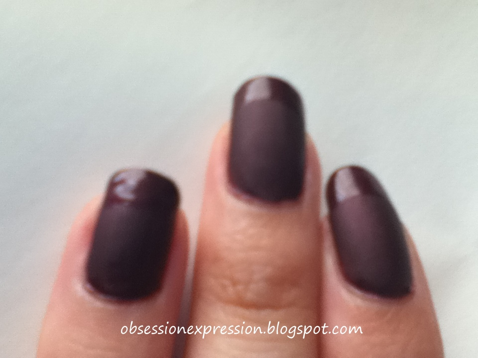 Obsession Expression: Matte Nails w/ Glossy Tips