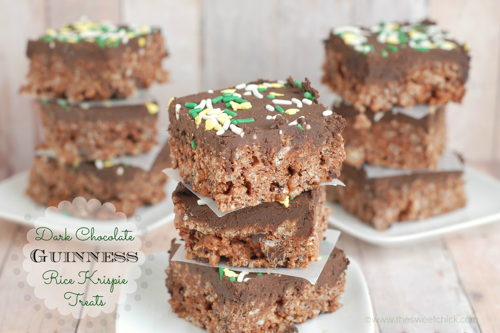 The Sweet Chick: Dark Chocolate Guinness Rice Krispie Treats