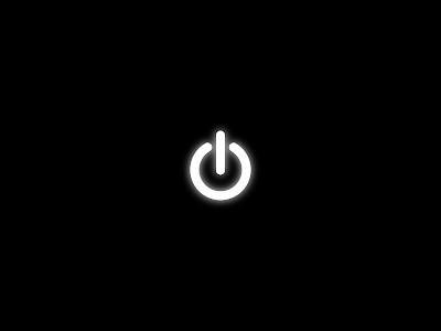 Minimal Power Button Logo Dark HD Wallpaper