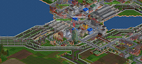 Open Transport Tycoon Deluxe rail system