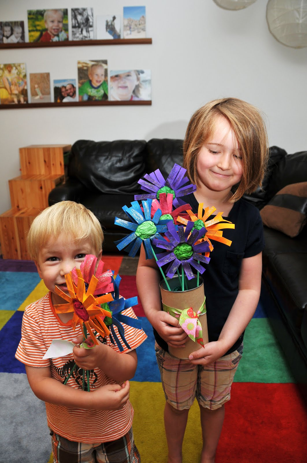 Good times and chaos toilet paper roll flowers mothers day and j driving up to san francisco seemed like the perfect time to have the kids make this craft for j to take to nonni and nana jeuxipadfo Images