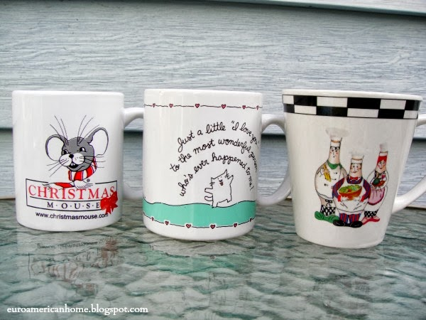 EuroAmericanHome: Mugs with dancing kitties and French chefs