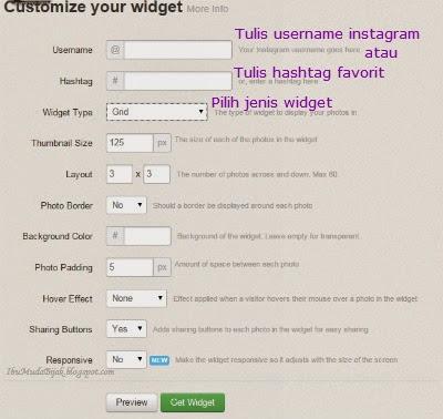 Cara Memasang Sidebar Widget Instagram