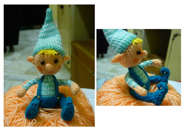 crochet amigurumi christmas elf pattern cute blue color