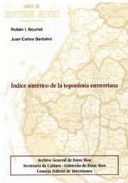 Índice sintético de la toponimia entrerriana