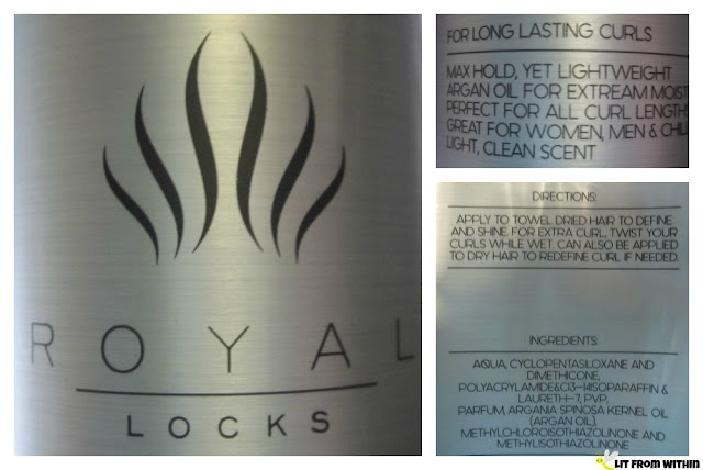 Royal Locks Pro Curl Cream ingredients and directions