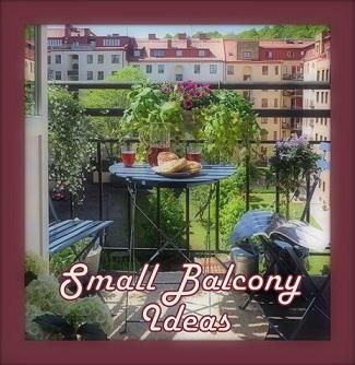 25.~ Small Balcony Ideas! (part a)