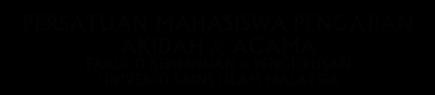 .::Persatuan Mahasiswa Pengajian Akidah dan Agama::.