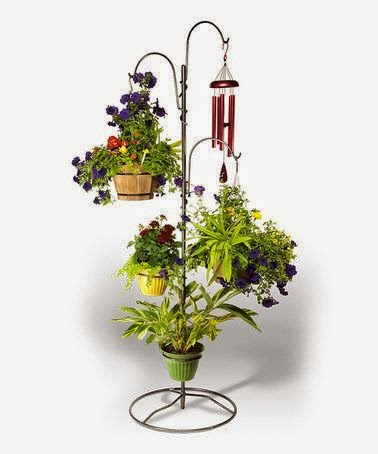 hanging flower basket stand