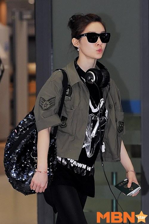 Foto Kedatangan T-ara Areum, Eunjung, dan Hyomin di Bandara Incheon dari Las Vegas