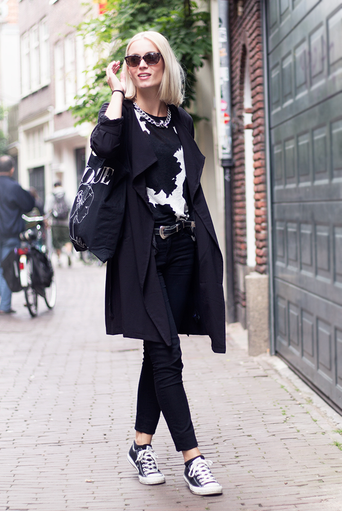 Fashion Attacks outfit ootd black and white cow print