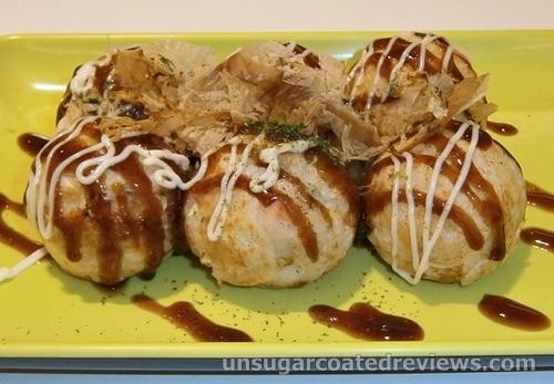 Takoyaki balls at Moshi Moshi