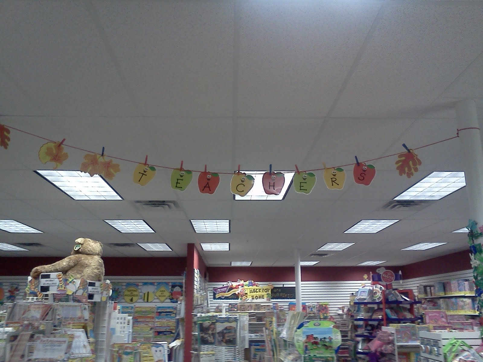 Fall Classroom Ceiling Decorations ~ Abc toy zone clothesline decorations