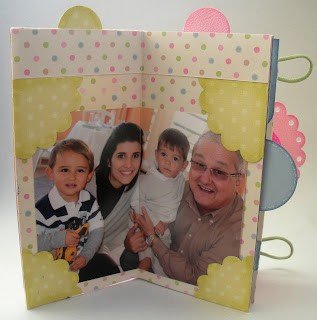 Mini album scrapbook, scrapbook, album facil de fazer