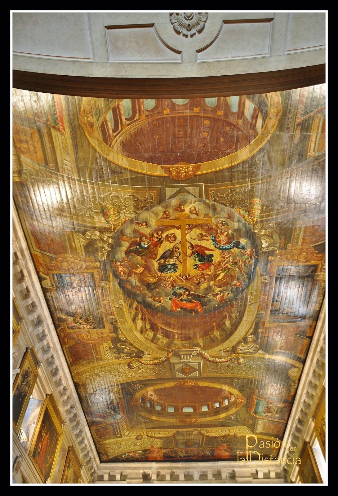 Cubierta pintada de la Iglesia de San Roque