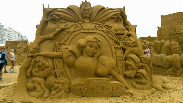 Snow White Disney Sand Sculpture