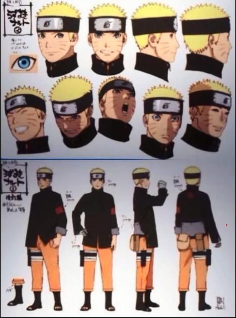 Character Design Naruto The Last : Beginilah penampilan semua karakter di the last naruto