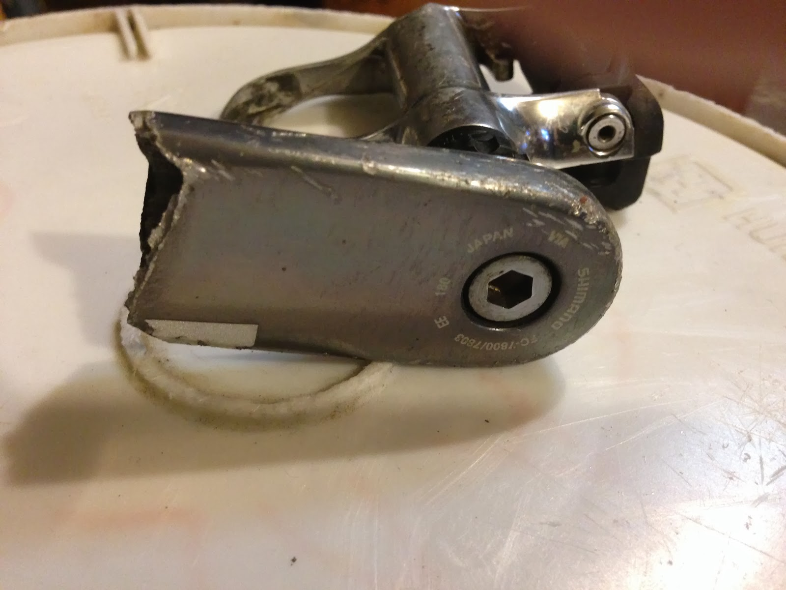 Broken Off Crank Arm with Pedal