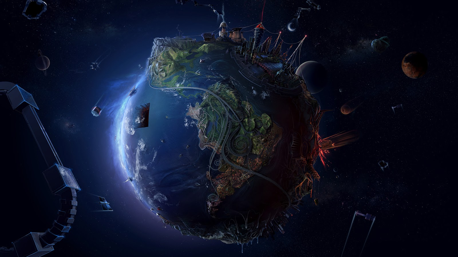 planet earth space hd and desktop wallpaper | all the latest and