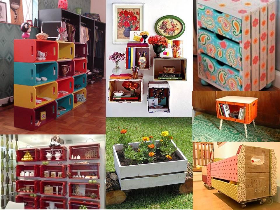 decoracao barata para ambientes pequenos : decoracao barata para ambientes pequenos:utilizando a reciclagem como aqueles caixotes de madeira usados para