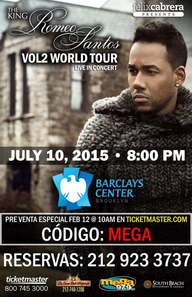 THE KING ROMEO SANTOS VOL2 WORLD TOUR